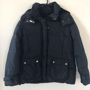 Black Guess Down Winter Jacket